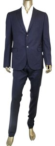 Gucci New Gucci Men's Navy Striped Wool Suits IT 54/US 44 244547 4240