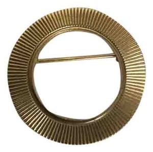Other Vintage Gold Tone Circle Pin