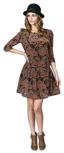 Aryn K short dress Cinnamon Multicolor Mini Day Silk on Tradesy