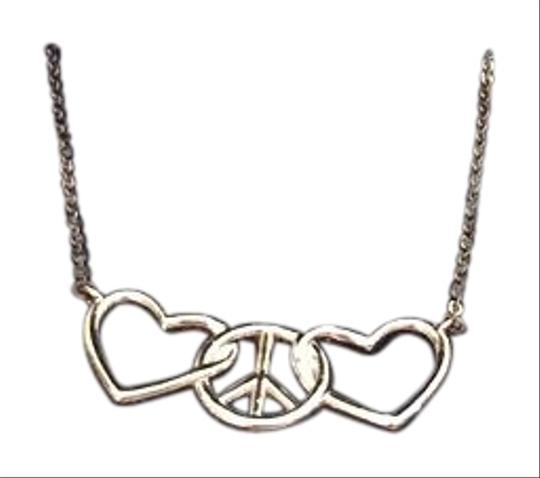 Preload https://img-static.tradesy.com/item/18236710/macy-s-silver-peace-and-love-necklace-0-1-540-540.jpg