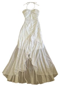City Triangles Prom Long Silver Formal Dress