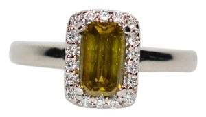 A. Jaffe A. Jaffe 1tcw Yellow Diamond 18kt White Gold Ring