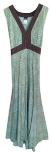 Green with brown trim Maxi Dress by Patagonia