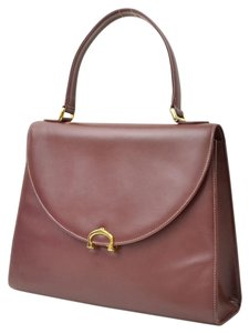 Cartier Hand Burgundy Leather Satchel