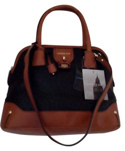 London Fog Satchel in Black/Tan
