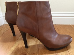 Franco Sarto Platform Leather Fall Bootie Brown Boots