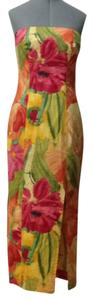 Yellow, green, orange, pink Maxi Dress by Finley Two Pieces Strapless