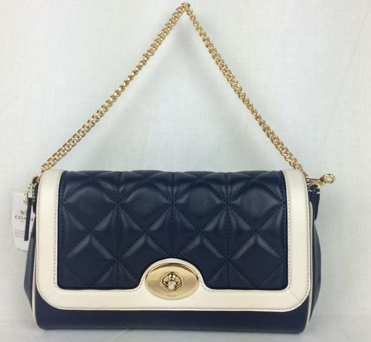 Coach Quilted Leather Small F37723 Flapfront Shoulder Bag Image 1
