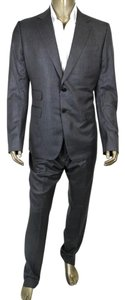 Gucci New Gucci Men's Gray Striped Wool Silk Suits IT 54/US 44 221536 1165