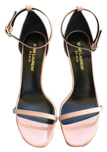 Saint Laurent Jane Rose Patent Blush Sandals