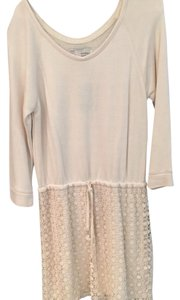 Anthropologie short dress Creme on Tradesy
