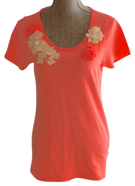Preload https://img-static.tradesy.com/item/18240412/jcrew-orange-new-with-tags-with-3d-flowers-tee-shirt-size-6-s-0-1-650-650.jpg