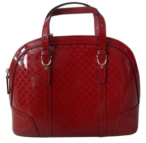 Gucci Handbag Patent Tote in Red