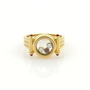 Chopard Chopard Happy Diamonds 18k Yellow Gold Ruby Floating Circle Ring Cert