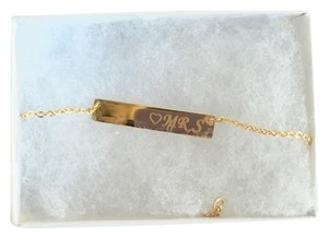 PRIVATE PARTY Beautiful Goldtone Bar Necklace Engraved with Heart &
