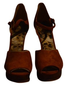 Sam Edelman Suede Brand New Rust Wedges