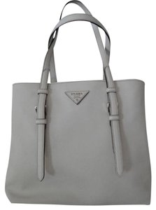 Prada Shopping Saffiano Tote in White