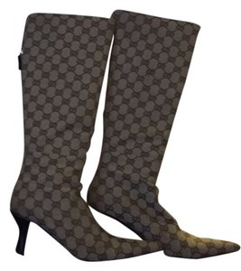 Gucci Monogram Tan and brown Boots