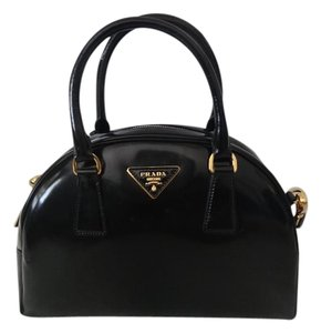 Prada Bowling Bauletto Tote in Black