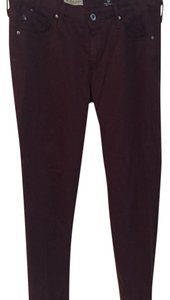 AG Adriano Goldschmied Straight Pants Cranberry