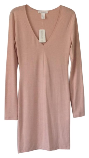 Preload https://img-static.tradesy.com/item/18242437/forever-21-blush-bodycon-mid-length-night-out-dress-size-4-s-0-4-650-650.jpg