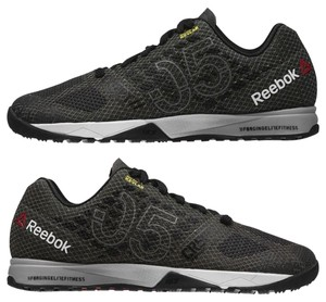 Reebok Crossfit Nano Training Coal, Black, White, Grey Athletic