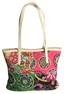 Vera Bradley Tote in Pink/Blue/White/Green