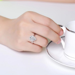 9.2.5 Engagement Proposal Band 1 Ct Single Solitaire 925 Silver Halo Round All Sizes 5 6 7 8 Ring