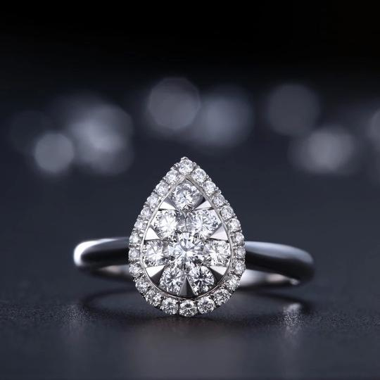 9.2.5 Engagement Proposal Band 1 Ct Single Solitaire 925 Silver Halo Round All Sizes 5 6 7 8 Ring Image 2