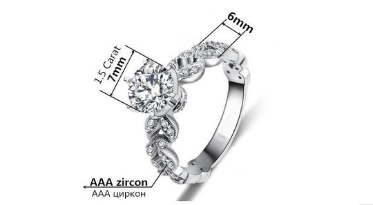9.2.5 2.5ct Single Solitaire Diamond Cz Crystal Vintage Proposal Sterling Silver 925 Logo All 5 Engagement Ring Image 1