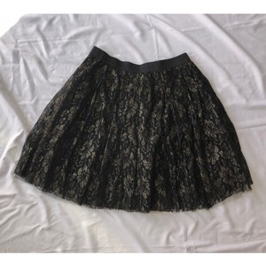 Charlotte Russe Cute Skirt Black and Gold