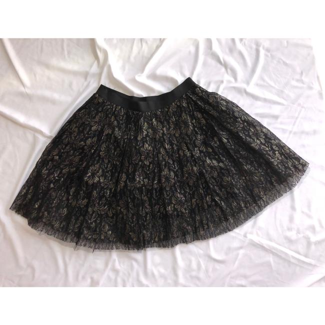 Charlotte Russe Cute Skirt Black and Gold Image 1