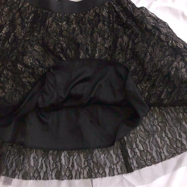 Charlotte Russe Cute Skirt Black and Gold Image 2