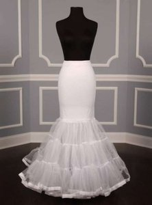 White Mermaid-style Slip Petticoat Sz. Medium