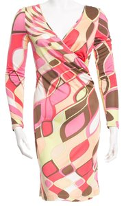 Emilio Pucci Longsleeve Monogram Print Dress