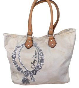 Juicy Couture Leather Canvas Sequin Tote