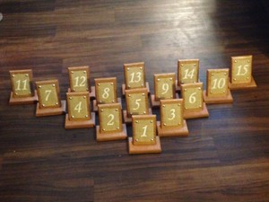 Wood And Burlap Wedding Table Numbers