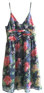 Planet Gold short dress Blue Womens Floral on Tradesy