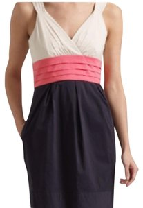 Navy, pink, cream Maxi Dress by BCBGMAXAZRIA