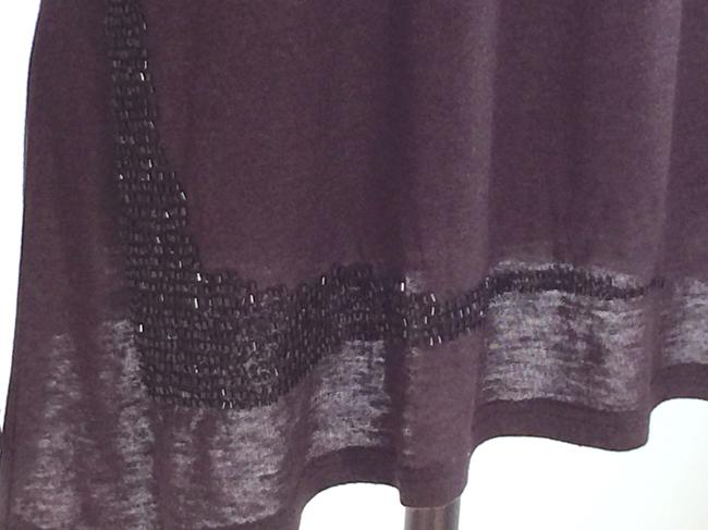 Other Beaded Night Out Tops Embellished Tees Assymetric Tees T Shirt Black Image 6