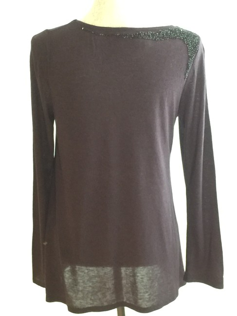Other Beaded Night Out Tops Embellished Tees Assymetric Tees T Shirt Black Image 7