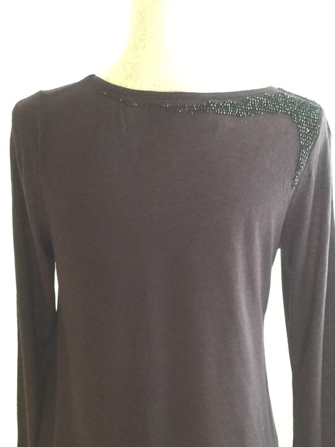 Other Beaded Night Out Tops Embellished Tees Assymetric Tees T Shirt Black Image 8