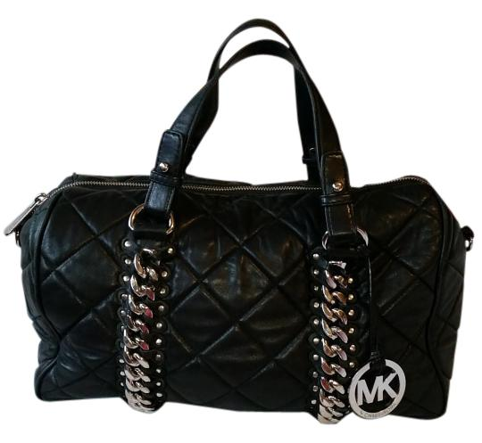 Preload https://img-static.tradesy.com/item/18245272/michael-kors-black-quilted-soft-leather-satchel-0-1-540-540.jpg