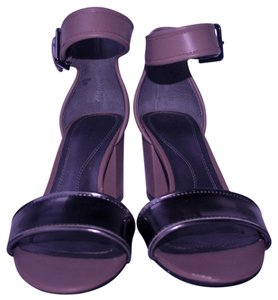 Tahari Fashion Chunky Ankle Strap Gun metal and Camel Sandals