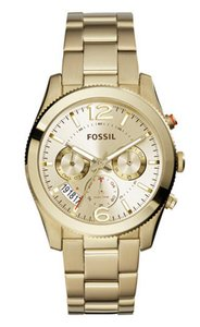 Fossil Fossil Perfect Boyfriend Gold-Tone Stainless Steel Watch ES3884P