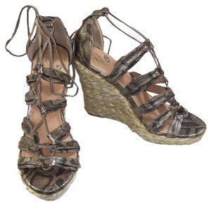 Colin Stuart Casual Informal Snakeskin Wedges