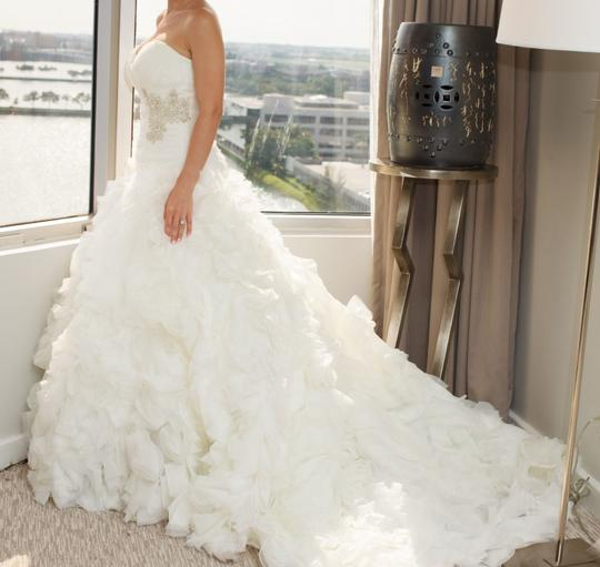 Allure Bridals Ivory Organza Style #8950 Formal Wedding Dress Size 4 (S) Image 1