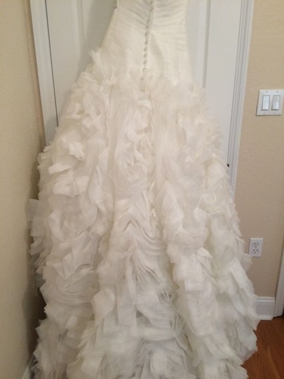 Allure Bridals Ivory Organza Style #8950 Formal Wedding Dress Size 4 (S) Image 10
