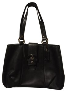 Coach Leather Tote Designer Satchel in Black