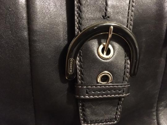 Coach Leather Tote Designer Satchel in Black Image 3